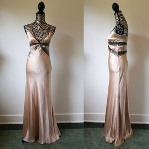 Old Hollywood Glam Silk gown by Nicole Miller